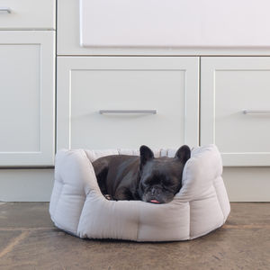 Grey Round Pet Bed - dogs
