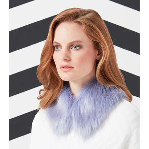 Luxury Faux Fur Shirt Collar