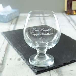 Personalised Brandy Glass - tableware