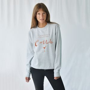 'Looks Like Cocktails' Christmas Jumper Sweatshirt - black friday sale