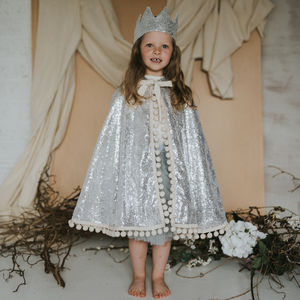 Diamond Pom Pom Cape - for over 5's