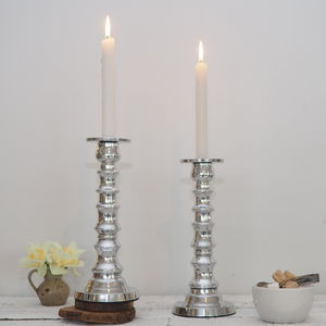 Decorative Silver Candlestick - candles & home fragrance