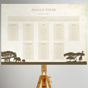 Safari Wedding Table Plan - table plans