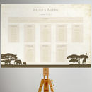 Safari Wedding Table Plan