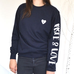Piste And Love Ski Sweatshirt - jumpers & cardigans