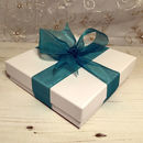 Optional gift box with Green ribbon