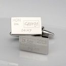 Personalised Birth Celebration Cufflinks