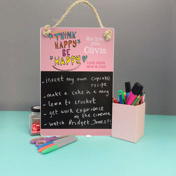 Think Happy Personalised Chalkboard