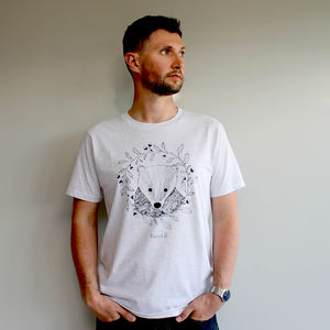 Organic Mens Badger And Oak T Shirt - Mens T-shirts & vests