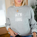 Monogram Initials And Year Sweatshirt