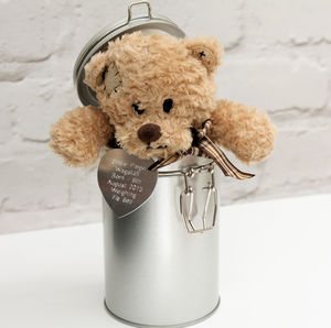 Personalised Teddy In A Tin - gifts for children