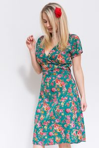 Ava Tea Dress Teal