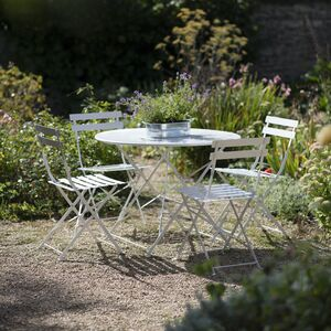 Large Bistro Set In Chalk Pre Order For August