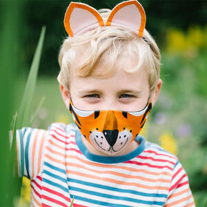 Kids Cotton Face Mask In Fun Animal Designs