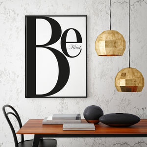 Be Kind - new in prints & art