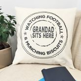 Personalised Grandad Stamp Cushion - shop by room