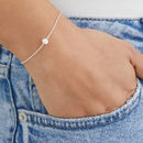 Rose, Silver Or Gold Single Pearl Choker Necklace