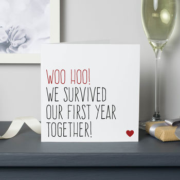 Survived our first year anniversary card