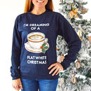 Funny Coffee 'Flat White Christmas' Jumper