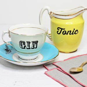 Upcycled Vintage Gin And Tonic Set