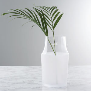 Personalised Initials Frosted Vase - tableware