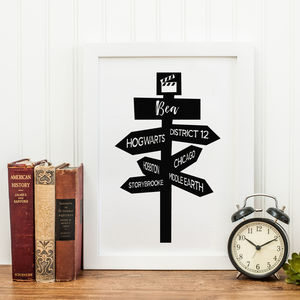 Personalised Movie Signpost Print - film & tv