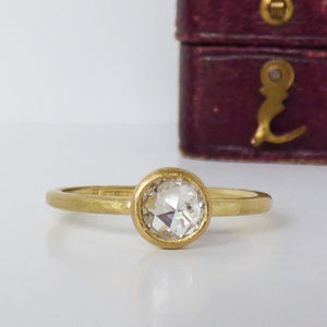 Luna Rose Cut Diamond Ethical Engagement Ring