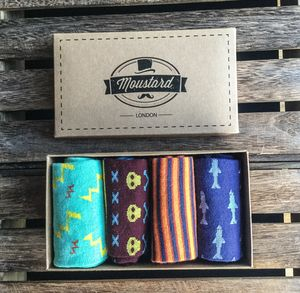 Men's Socks Color Gift Box