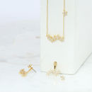 Starburst necklace gold plated