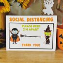 Social Distance Halloween Sign
