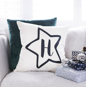 Personalised Star Nursery Cushion