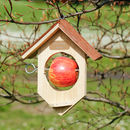Personalised Wooden Distressed Bird Feeder
