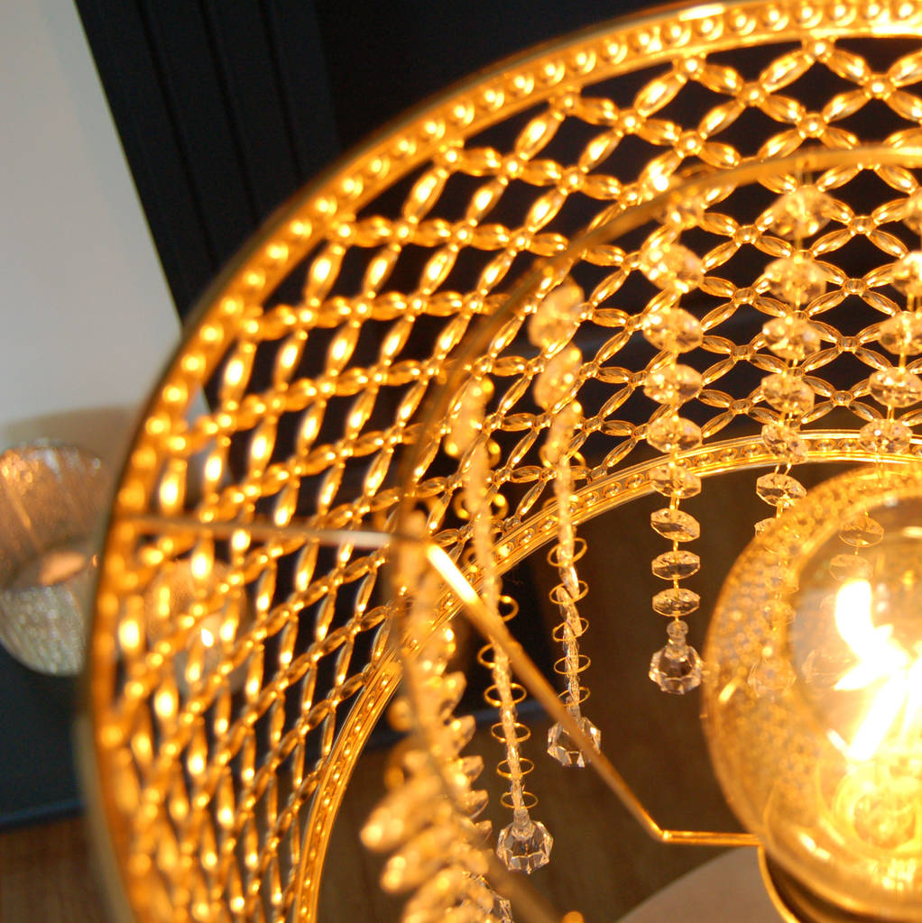 gold moroccan floor lamp chandelier crystal by the luxe co ...