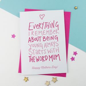 Everything Mother's Day Card - whats new