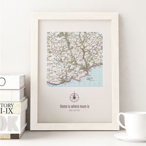Personalised Postcode Map Print - maps & locations