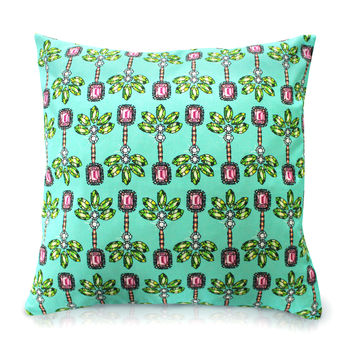 Palm Green Print Cushion