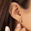 Gold Or Silver Small Plain Huggie Hoop Earrings
