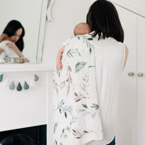Bamboo Baby Swaddle Blanket, Botanical Print - our top new picks