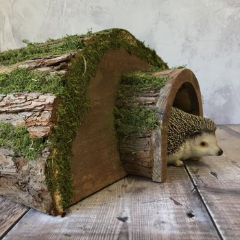 Wooden Hedgehog Wildlife House