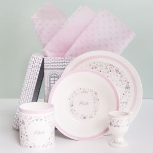 Little Love Personalised Breakfast Set Pink