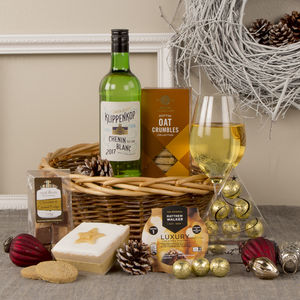 Luxury Christmas Basket Gift Hamper - wines, beers & spirits