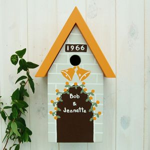Personalised Wedding / Anniversary Bird Box - small animals & wildlife