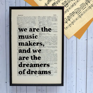 Music Lover Gift Quote Print