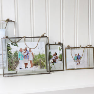 Brass Glass Frames - picture frames