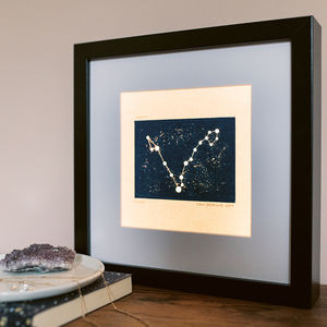 Personalised Star Sign Constellation Light Box - table & floor lamps