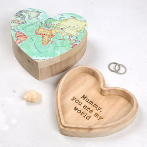 You Are Our World Personalised Map Jewellery Box - jewellery storage & trinket boxes