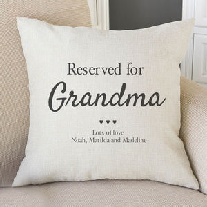 Reserved For Grandma Personalised Cushion Cover