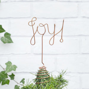 Joy! Wire Christmas Tree Topper