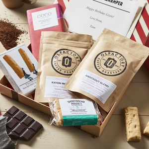 Coffee Lovers Personalised Letter Box Hamper - gifts for him