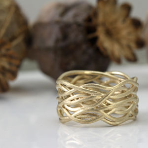 Nest Gold Ring - rings